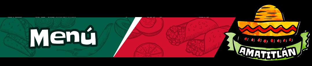 Menú de tacos en Amatitlán